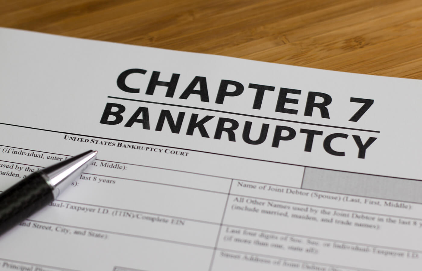 Chapter 7 Bankruptcy accomplish